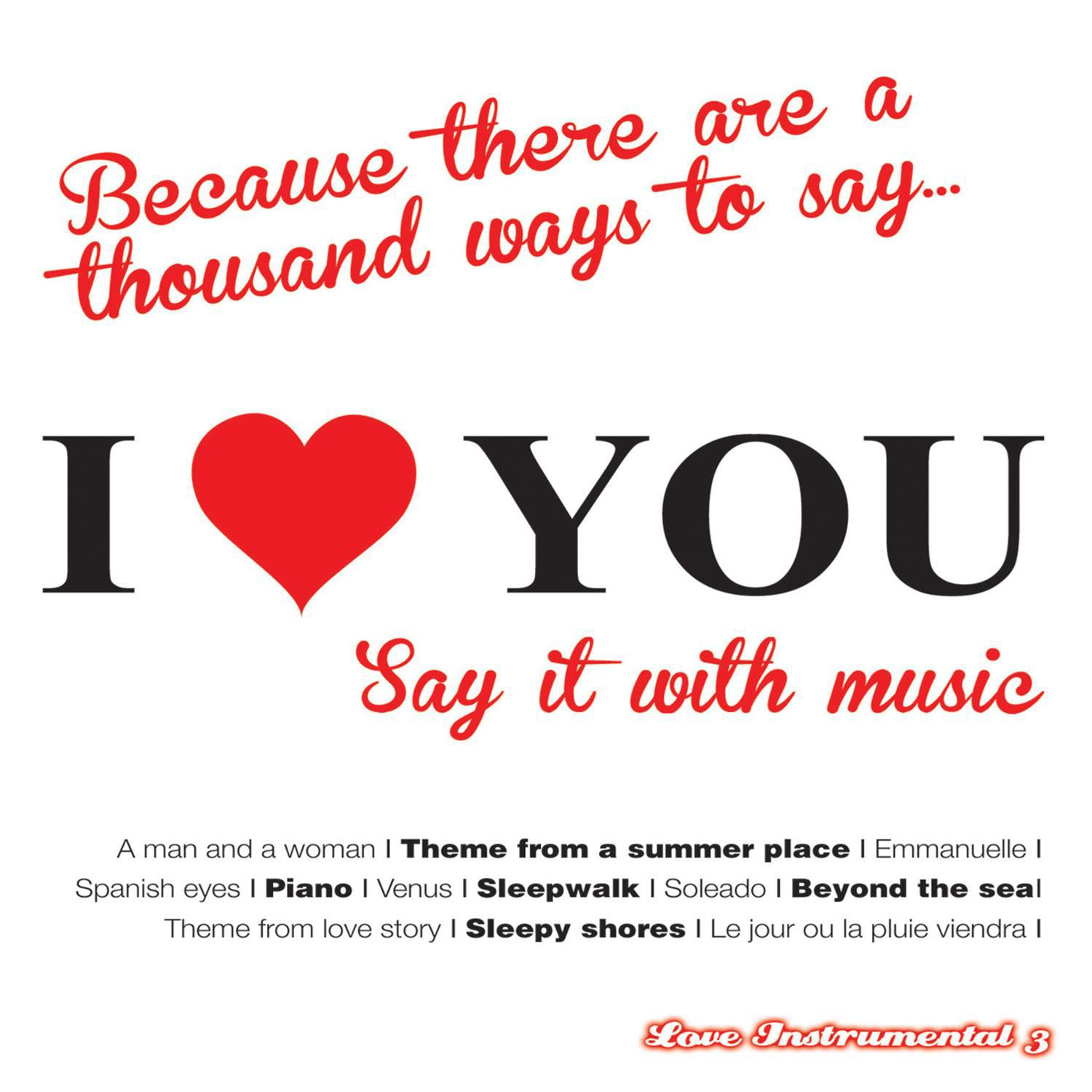 i love you (say it with music): love instrumental