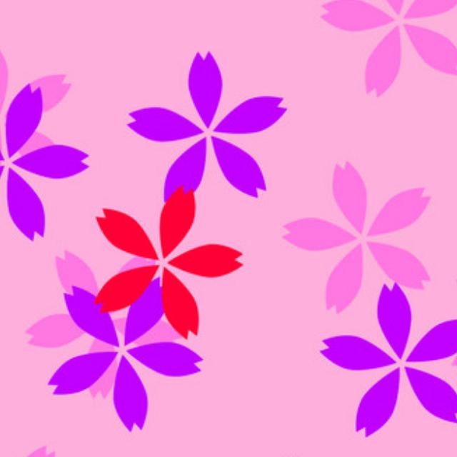 樱花黑白矢量图