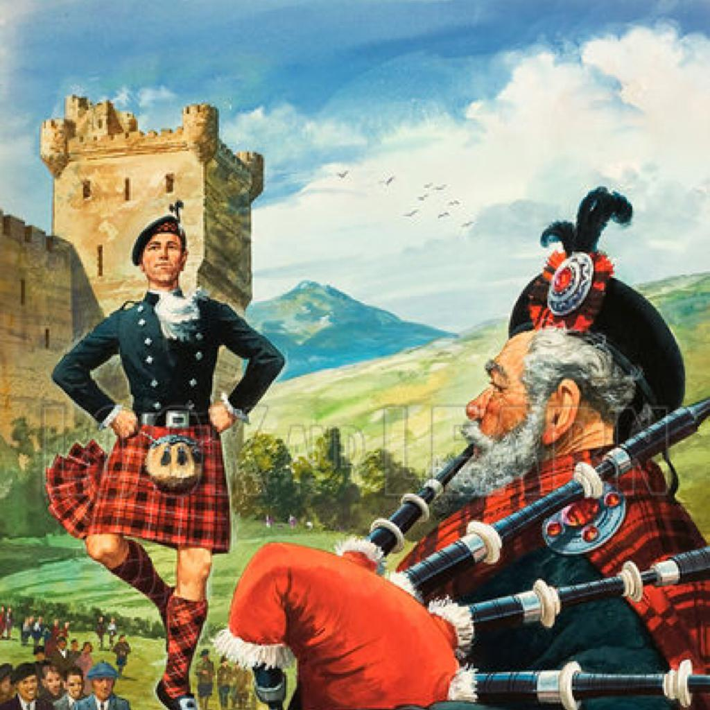 苏格兰 卡通图片