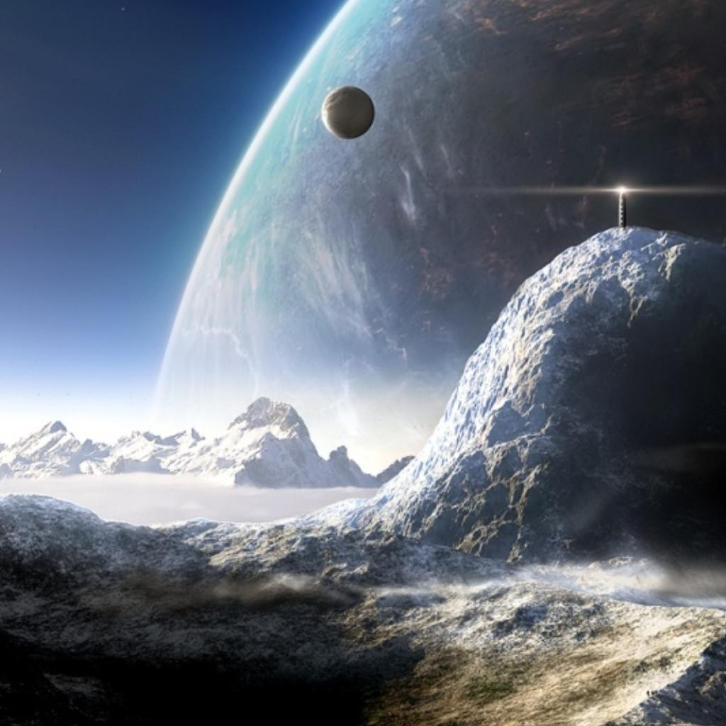 环绕宇宙矢量图